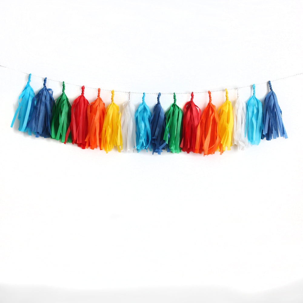 Classic Birthday Tassel Garland Kit or Fully Assembled