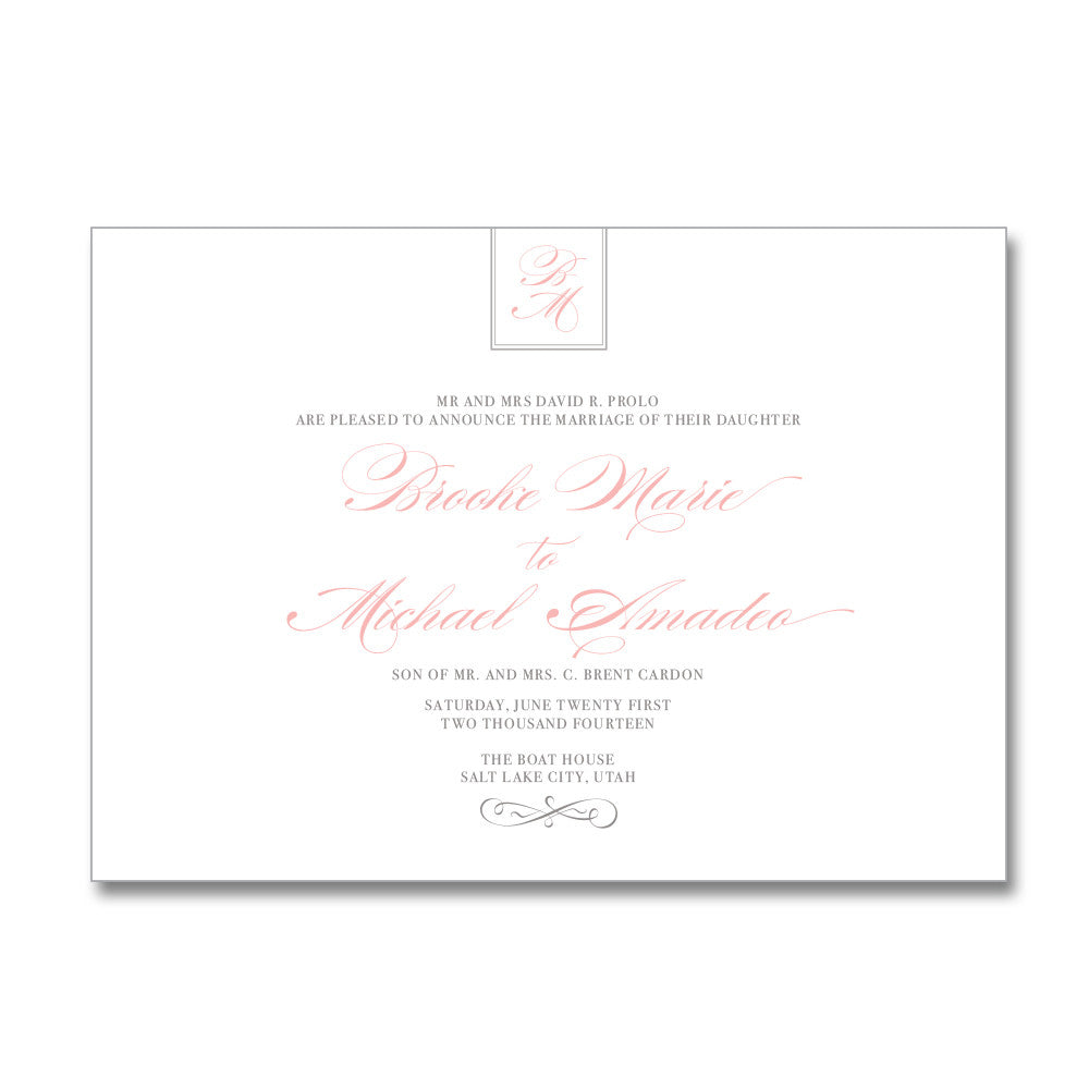 Classic Monogram Wedding Invitations