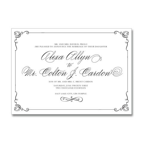 Classic Romance Wedding Invitations