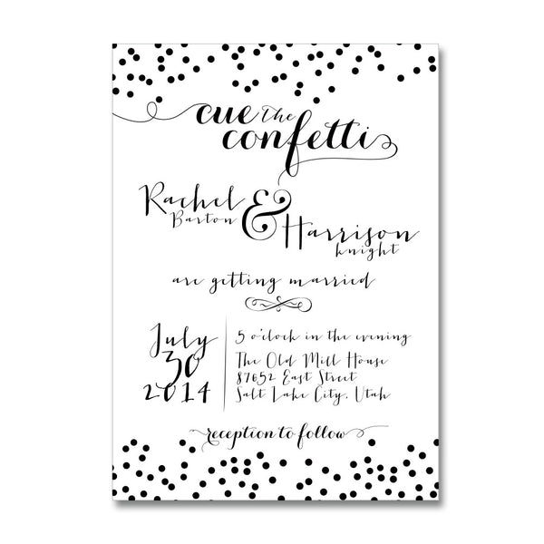 Confetti Dot Wedding Invitations
