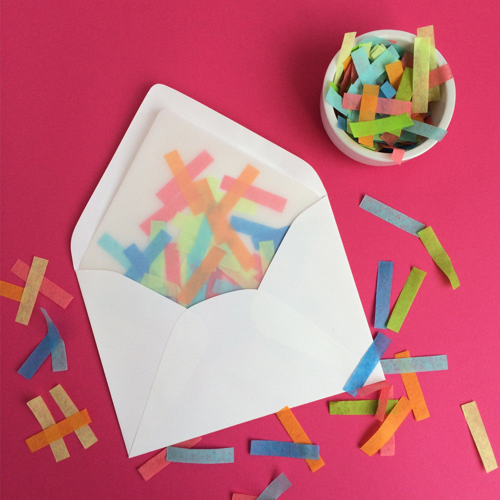 Summer Days Confetti Envelope Liner Kit