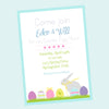 Easter Egg Decorating & Easter Egg Hunt Party invitations