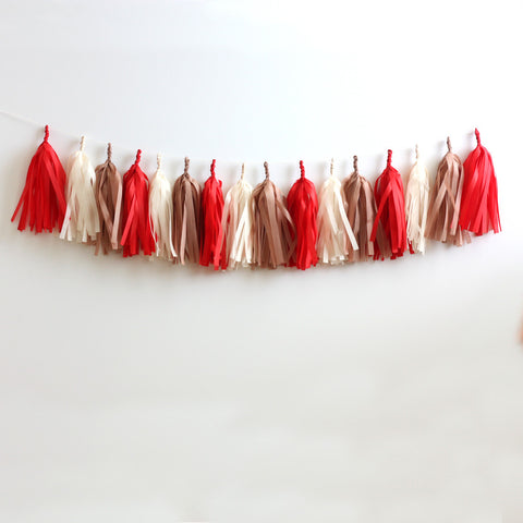 Gingerbread House Christmas Fringe Tassel Garland Kit