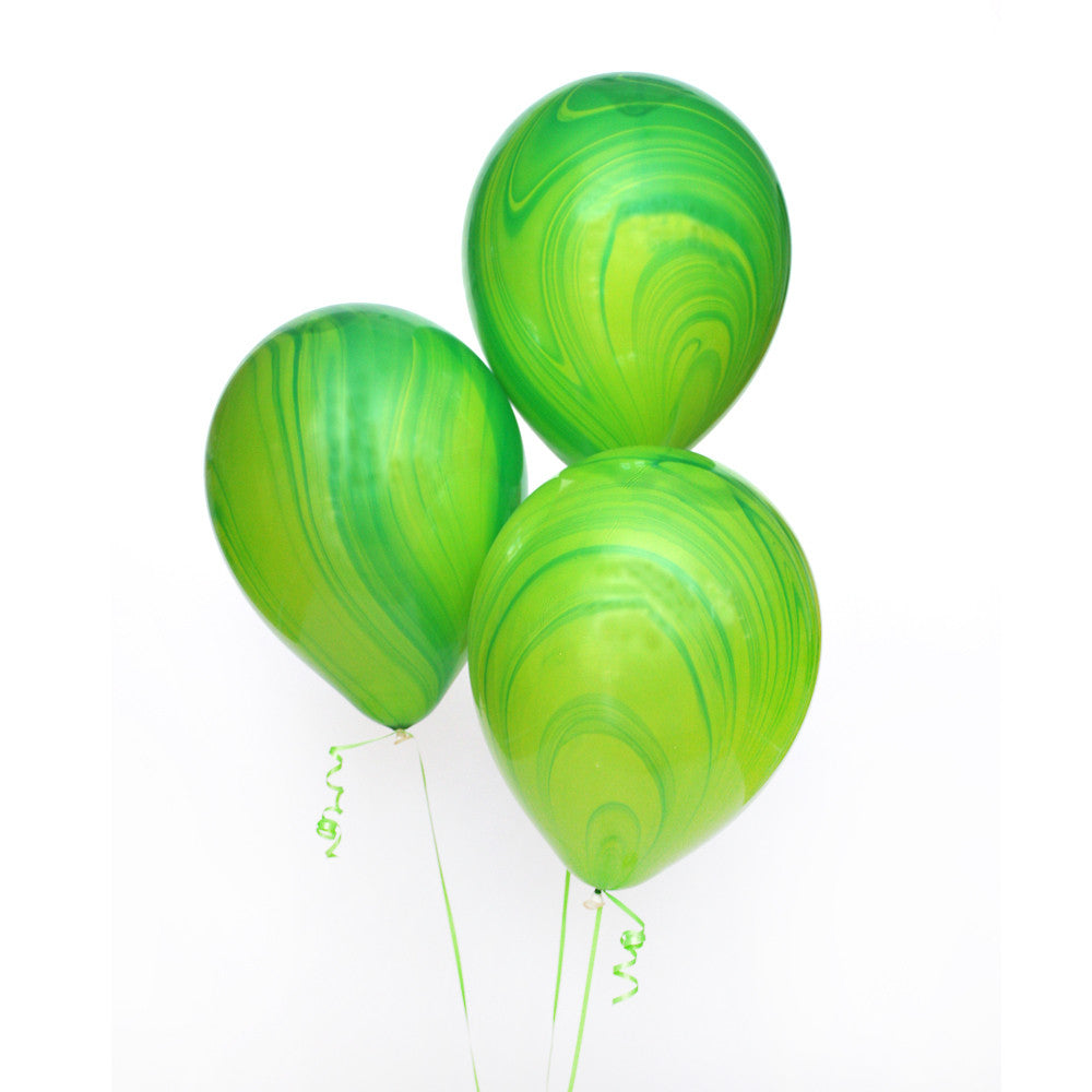 Green Marble Balloon Bundle
