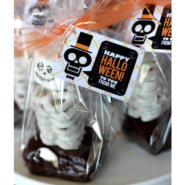 Halloween Skeleton tags