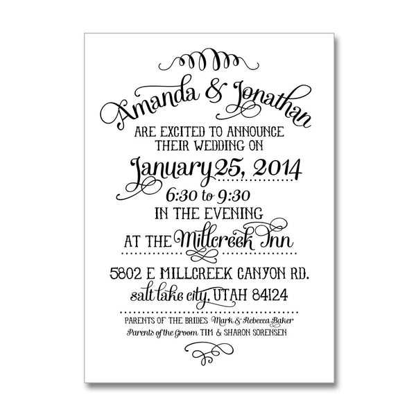 Joyful Wedding Invitations