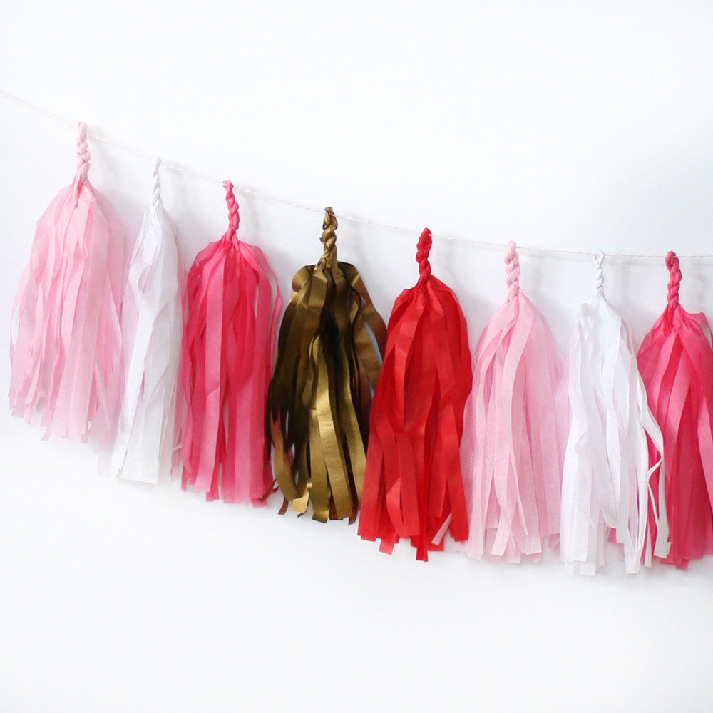 Love is in the Air Fringe Tassel Garland Kit or Fully Assembled