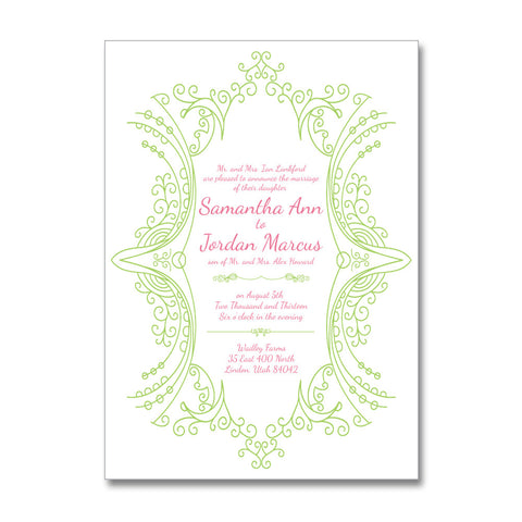 Marie Antoinette Garden Wedding Invitations