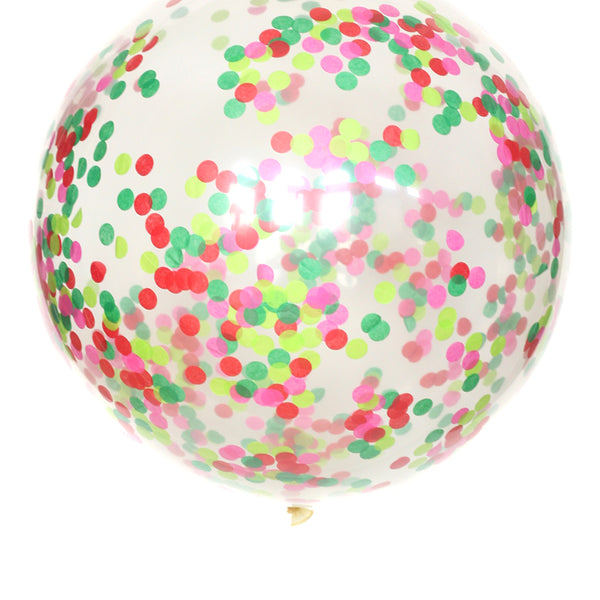 Merry and Bright Confetti Balloon