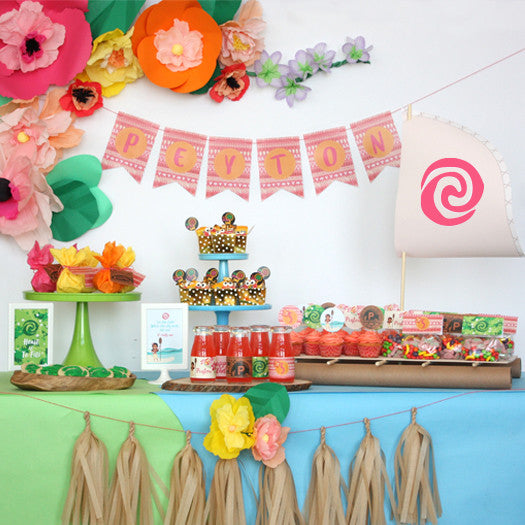 Moana printable Birthday Party Collection