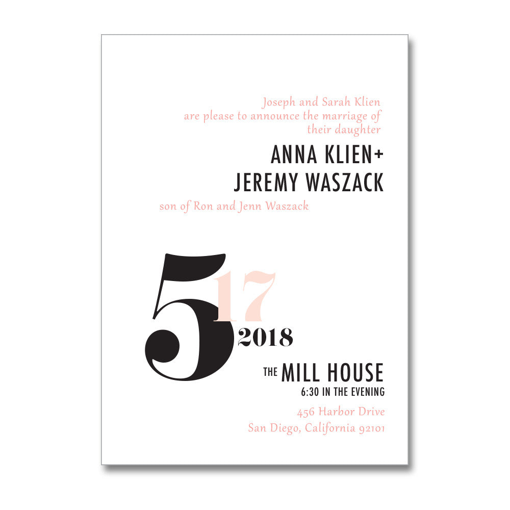 Modern Graphic Wedding Invitations