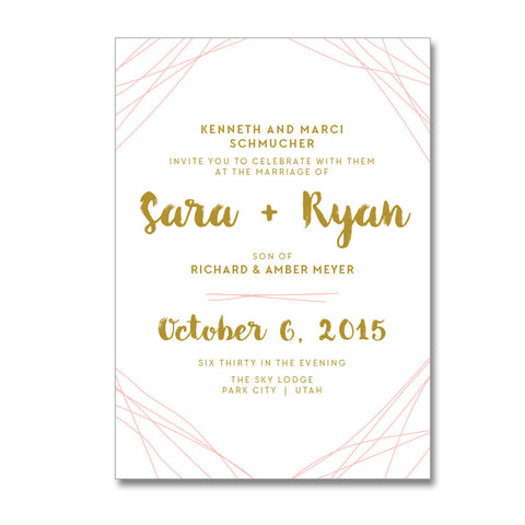 Modern Brush Wedding Invitations
