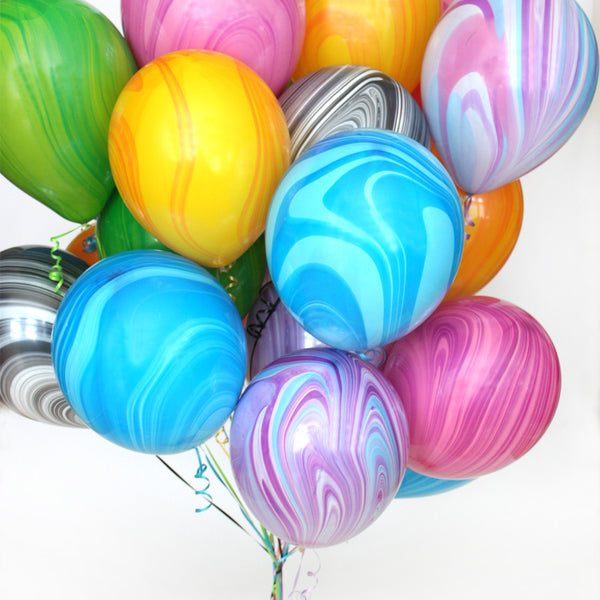 Rainbow Marble Balloon Bundle