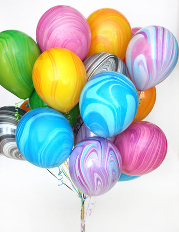 Rainbow Marble Balloon Pack