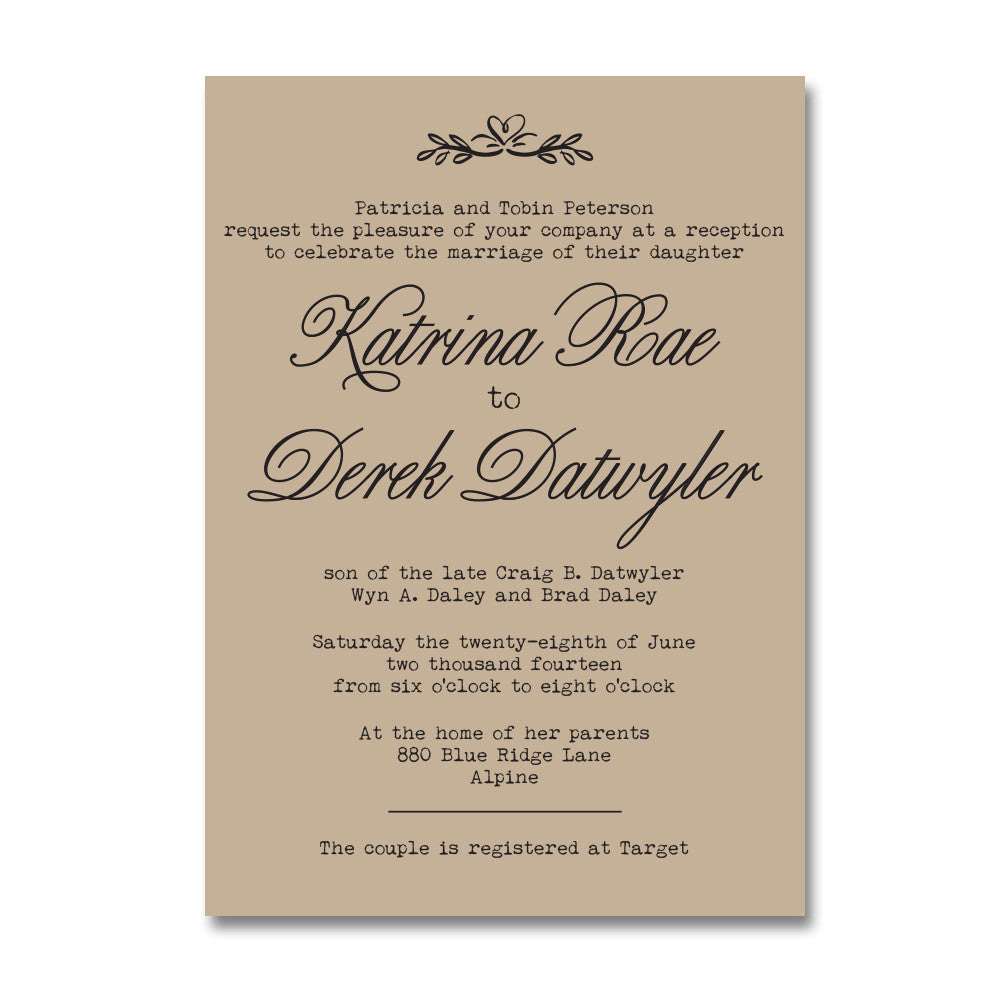 Rustic Kraft Doily Wedding Invitation Suite – Wants and Wishes