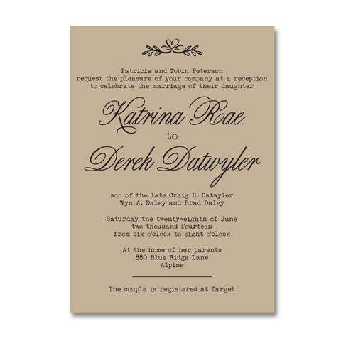 Rustic Kraft Doily Wedding Invitation Suite