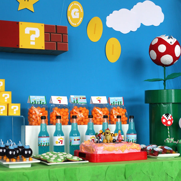 Super Mario Bros party printables