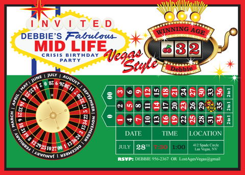 Vegas Midlife Crisis printable Party collection by wants and wishes