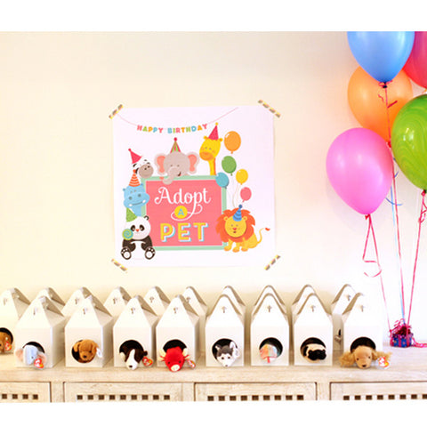 Pet Adoption - Adopt a pet birthday party printables