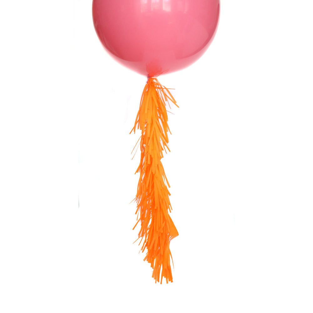 Apricot Frilly Balloon Tassel
