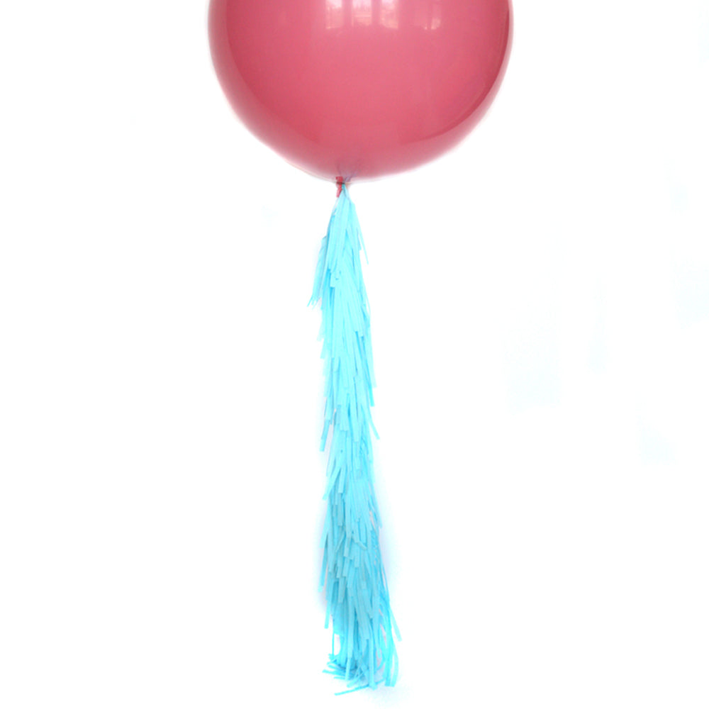 Aqua Frilly Balloon Tassel