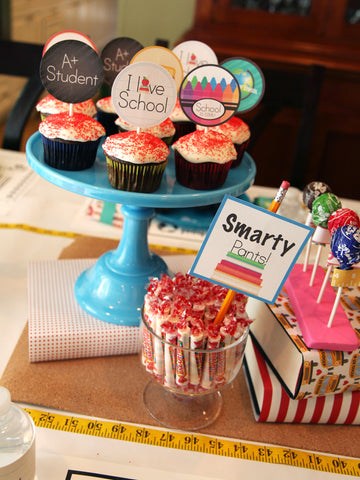 Vintage Back to School Party printables