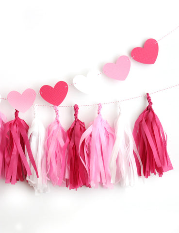 Be Mine Valentine Fringe Tassel Garland Kit