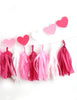 Be Mine Valentine Fringe Tassel Garland Kit or Fully Assembled