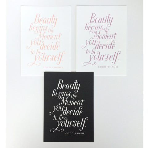 Beauty begins  Art Print
