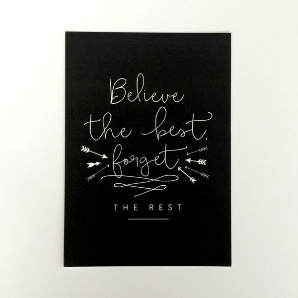 Believe the Best Art Print