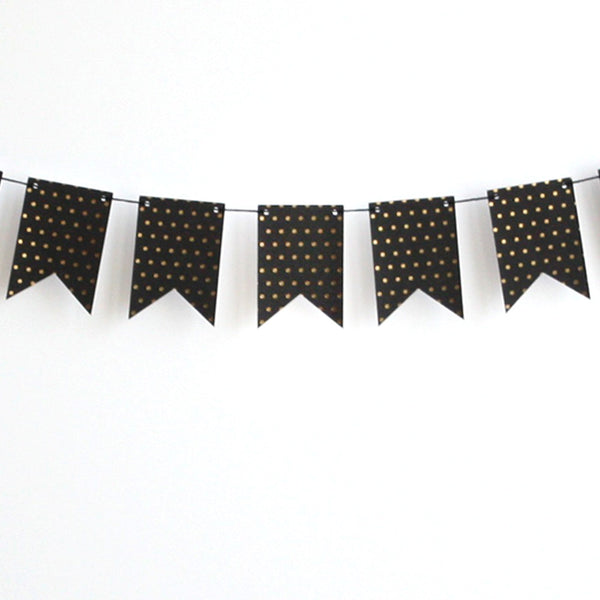 Black and gold dot Banner Kit