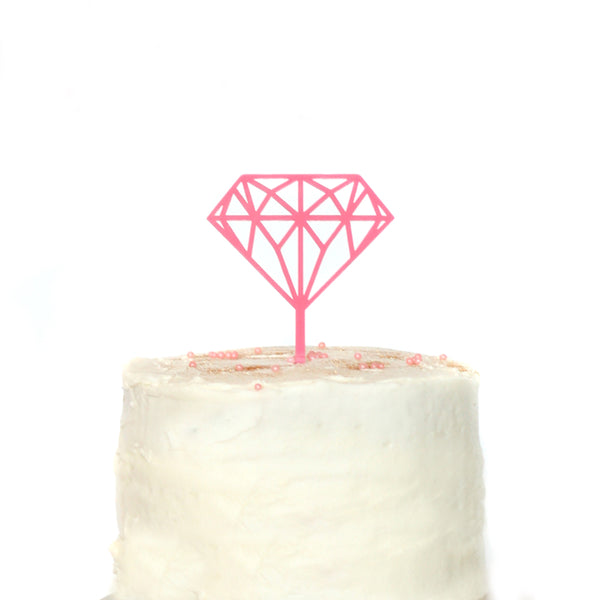 Diamond Ring Bridal Cake Topper