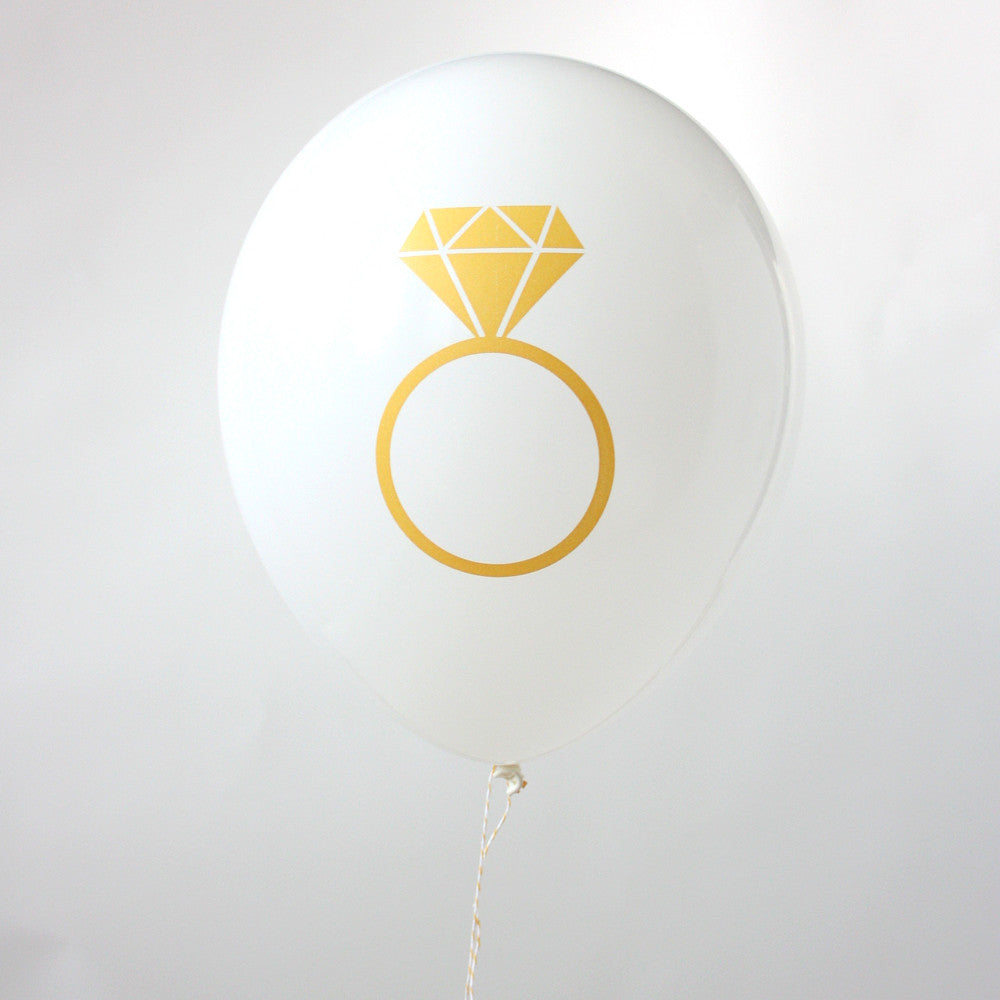 Bridal Dimond Ring Balloon