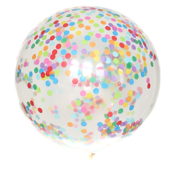 Bright Rainbow Confetti Balloon