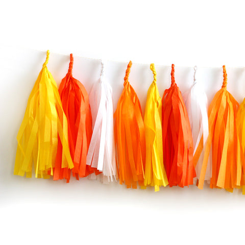 Candy Corn Halloween Fringe Tassel Garland Kit