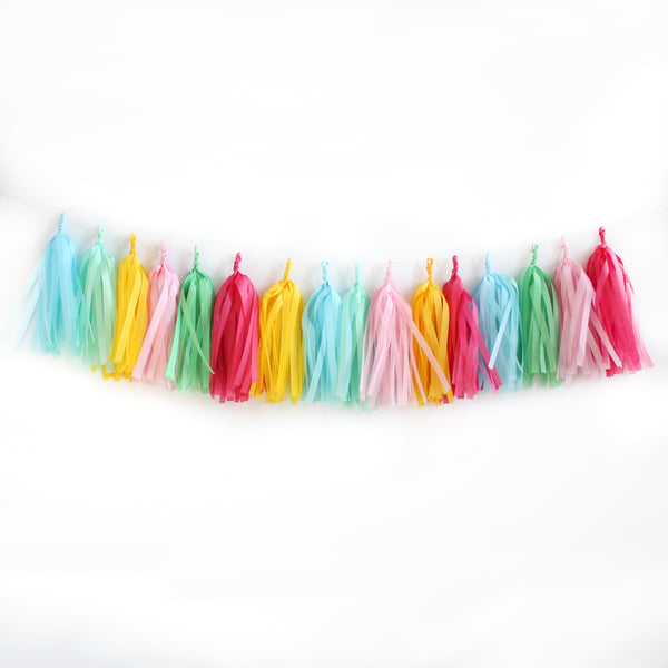 Celebrate Fringe Tissue Tassel Garland Kit