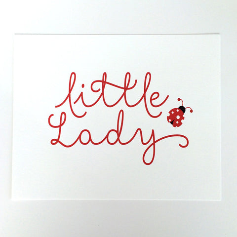 Children's Little Lady, lady bug Art Print