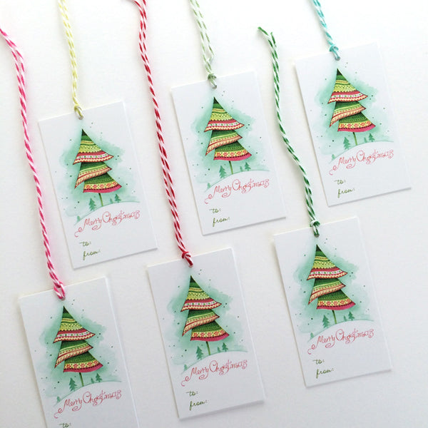 Christmas Tree gift Christmas tags
