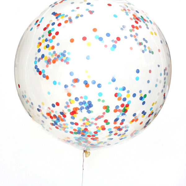 Classic Birthday Confetti Balloon