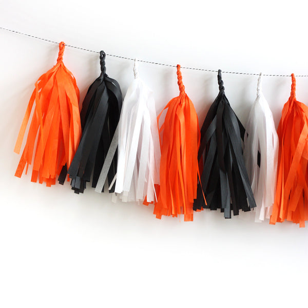 Classic Halloween Fringe Tassel Garland Kit or Fully Assembled
