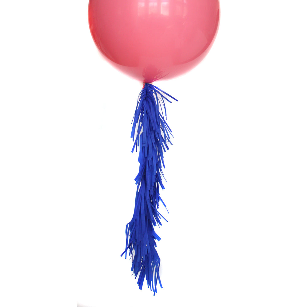 Cobalt Frilly Balloon Tassel