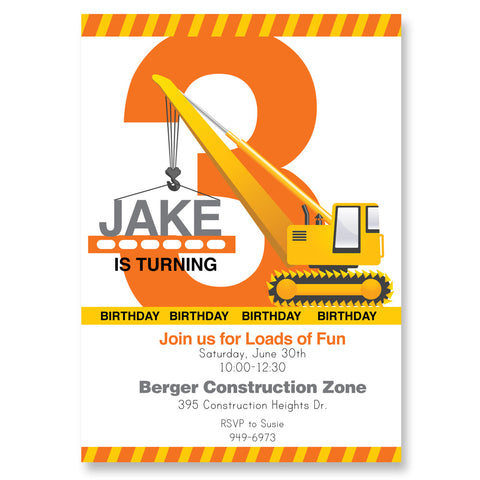 Construction printable Invitation by Wants and Wishes