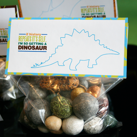 candy Dinosaur eggs- great for dinosaur favors- round rock candy