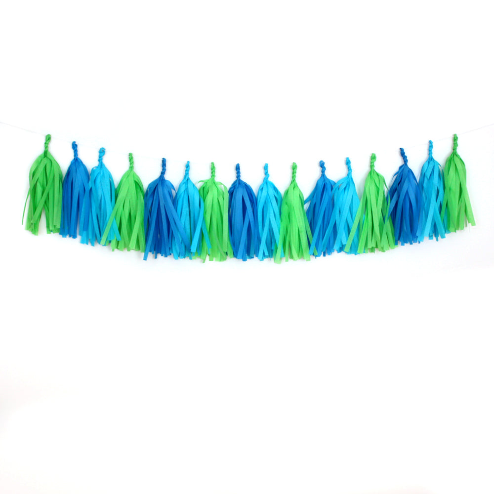 Dinosaur Fringe Tissue Tassel Garland Kit or Fully Assembled