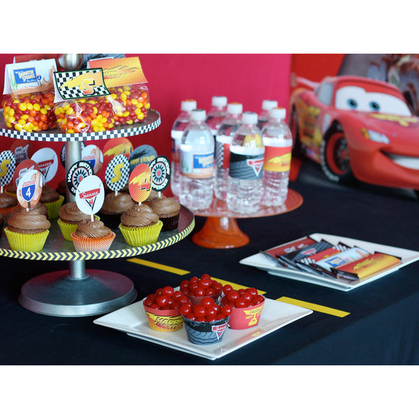 Printable Disney Inspired Cars 2 Race Car- FULL Birthday Collection