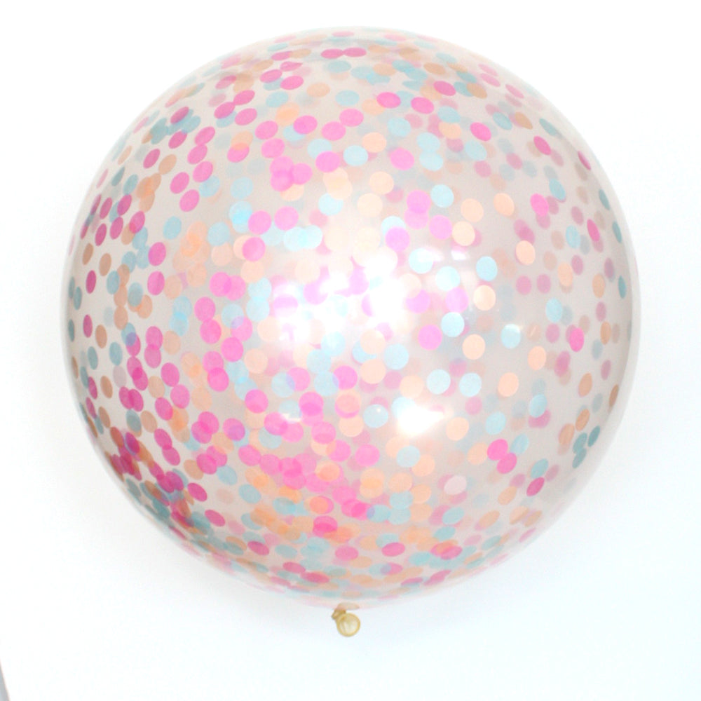 Donut Clear Confetti Balloon