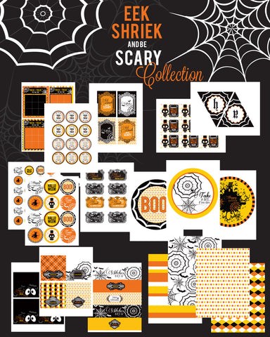 Eek, Shriek and be Scary Printable Halloween Collection