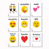 Printable Emoji School Valentine Cards
