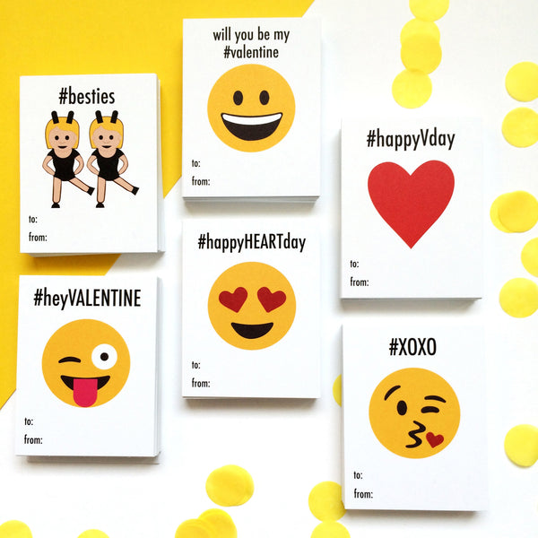 Printable Emoji School Valentine Cards Wants And Wishes