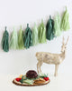 Evergreen Wreath Christmas Fringe Tassel Garland Kit or Fully Assembled